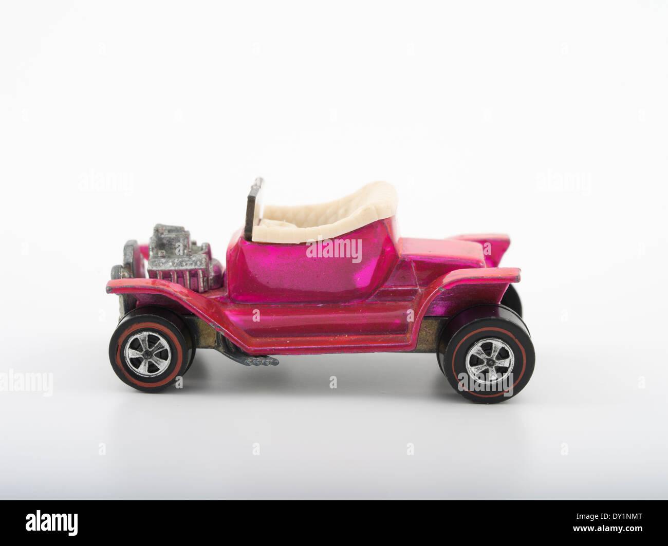 Rosa Heap calda, Hot Wheels die-cast automobili giocattolo da Mattel 1968 con verniciatura Spectraflame Immagini Stock