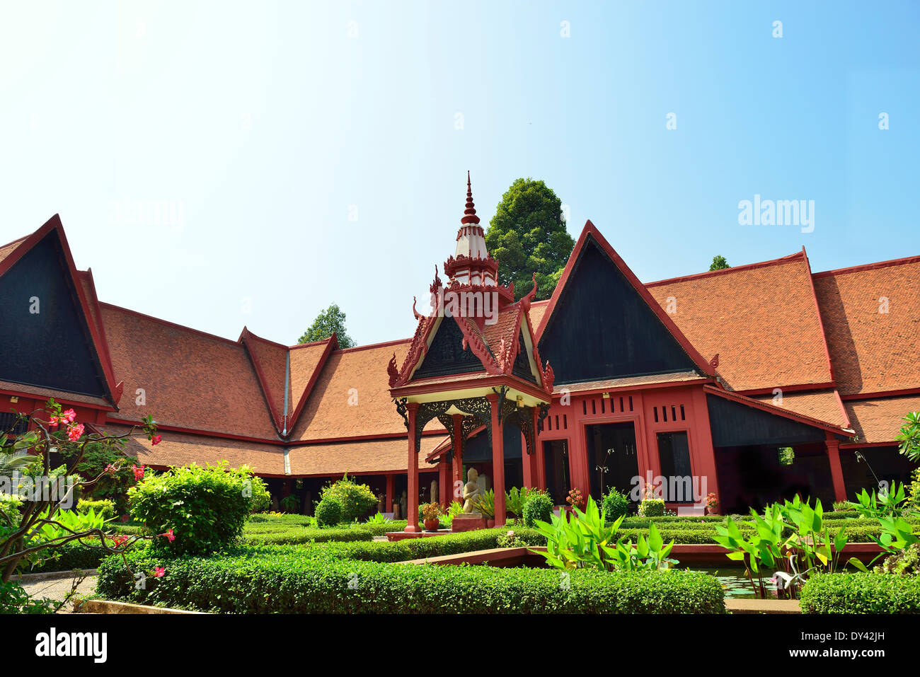 Museo Nazionale, Phnom Penh, Cambogia, Indocina, Sud-est asiatico Foto Stock