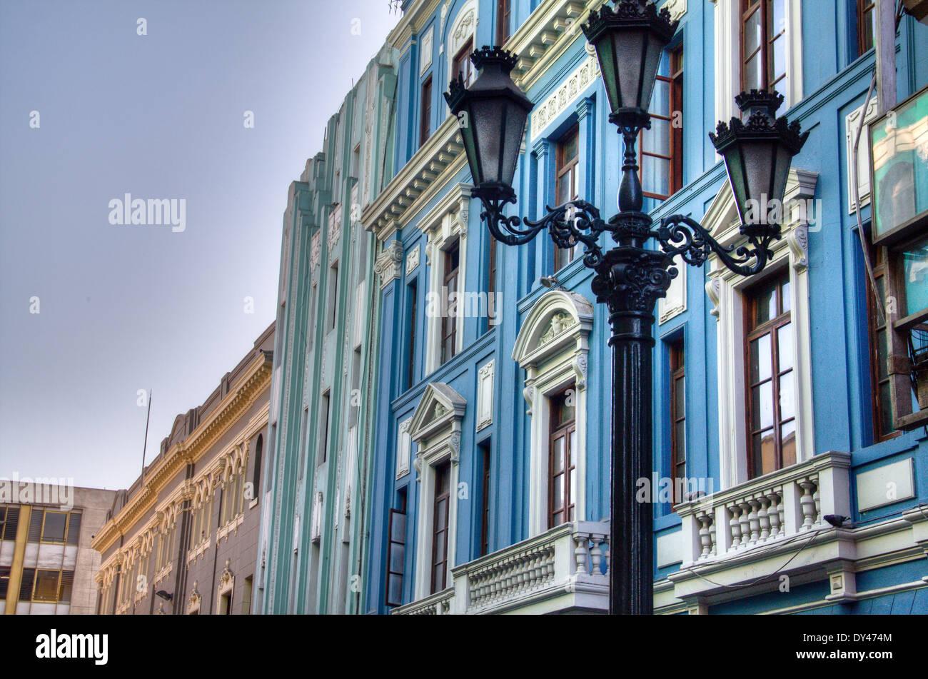 Facciate nella città di Lima, Perù Immagini Stock