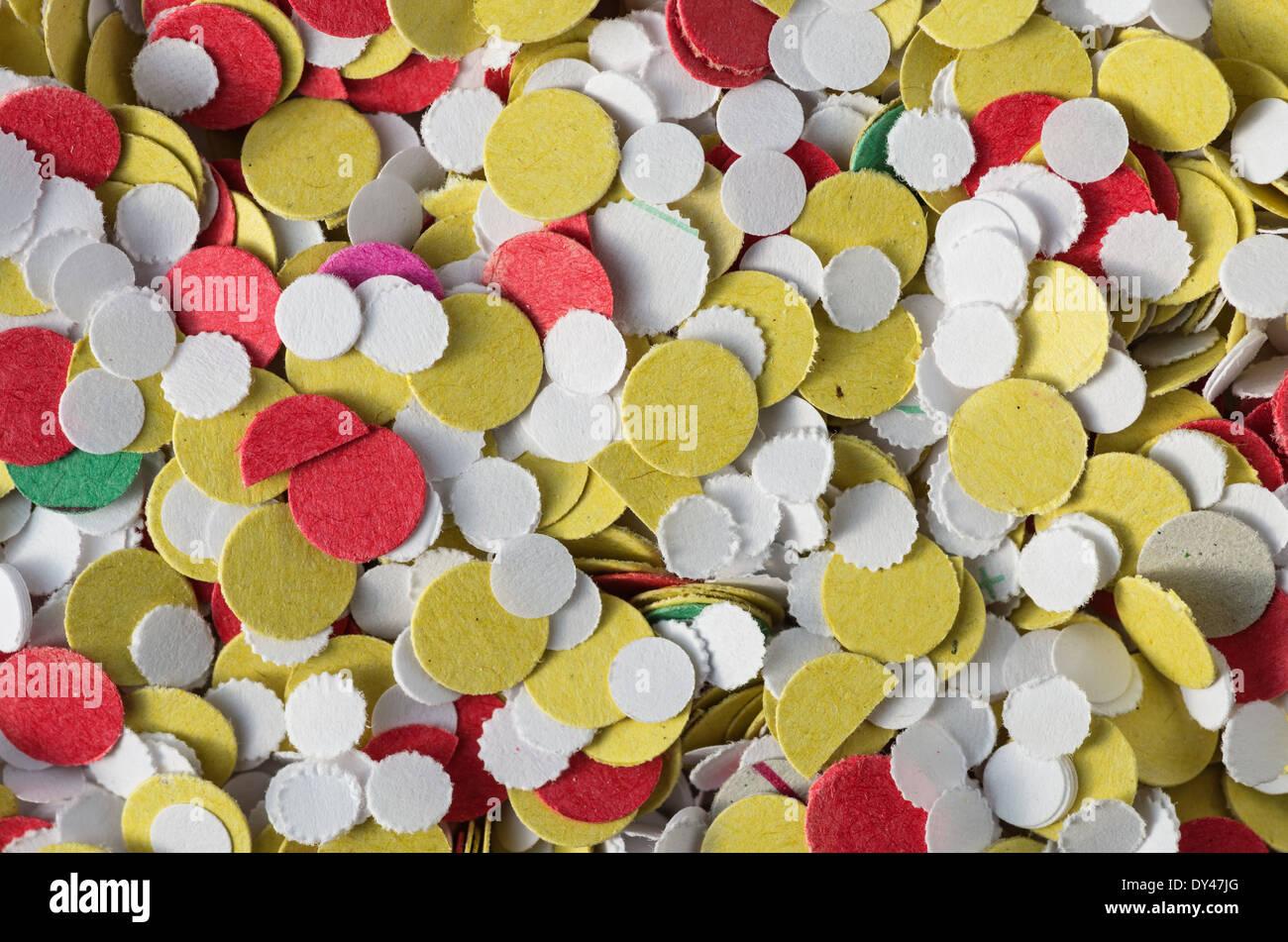 Multi colorata carta coriandoli macro texture di sfondo Immagini Stock