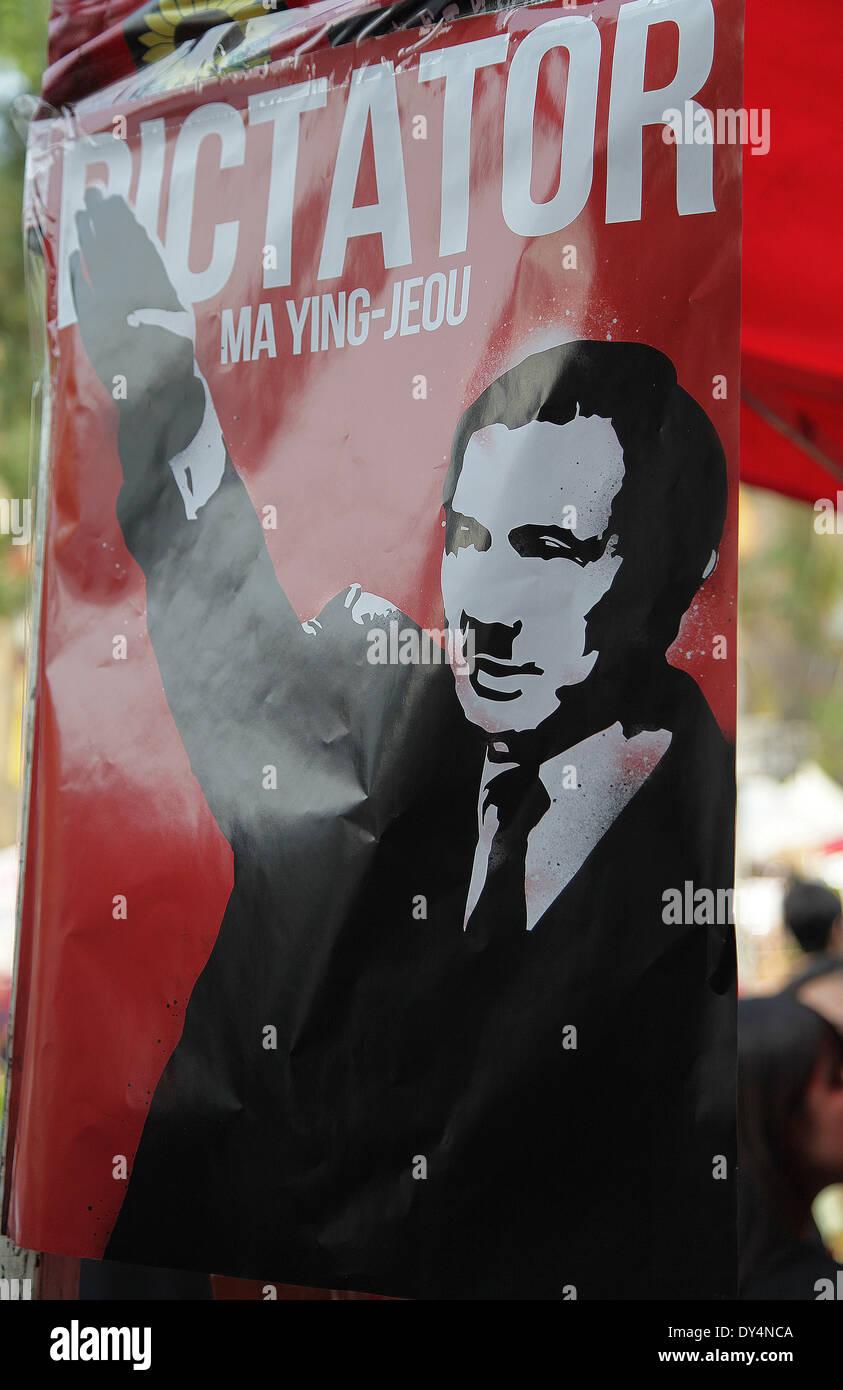Ma Ying-jeou, caricatura, il dittatore, Hitler, trasparente Immagini Stock