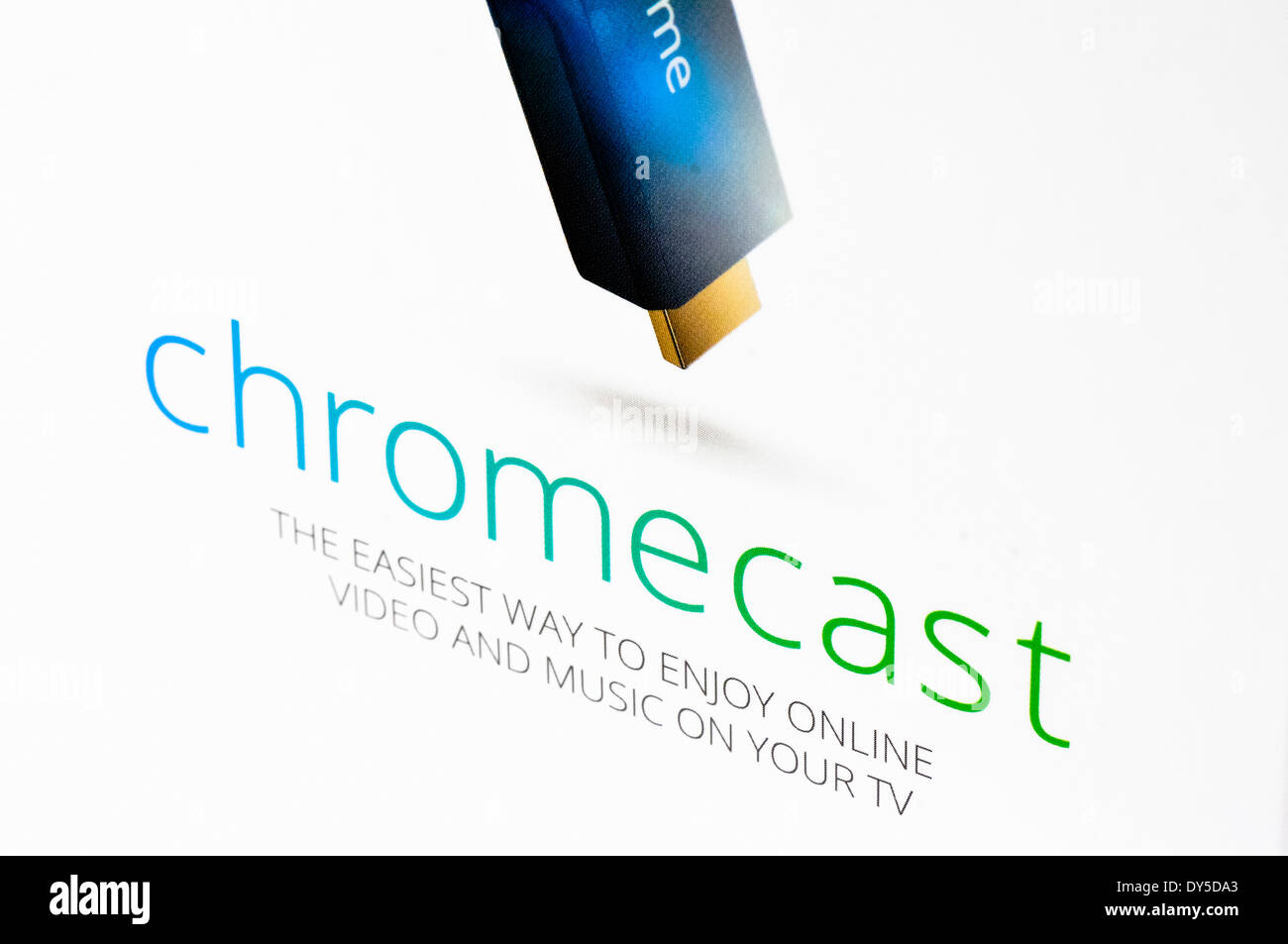Google TV Chromecast dispositivo di streaming Immagini Stock