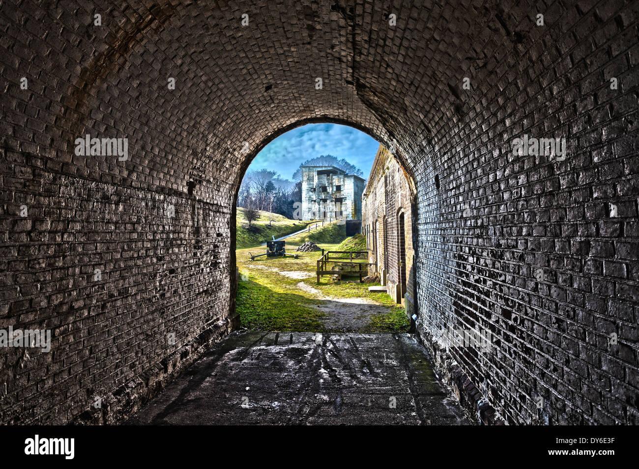 Forte occidentale a Swinoujscie, Polonia, elaborazione HDR. Immagini Stock