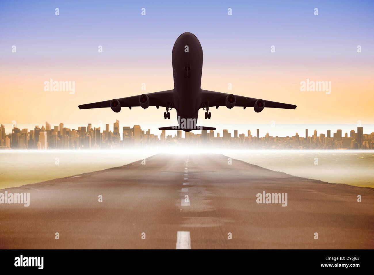 Immagine composita di un grafico in aereo Immagini Stock