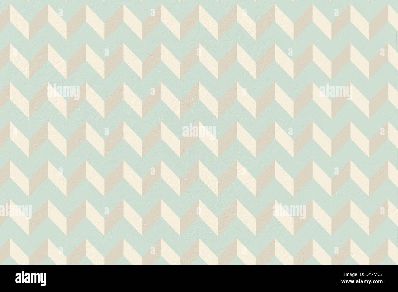 Blu e crema, carta da parati con motivi geometrici Immagini Stock