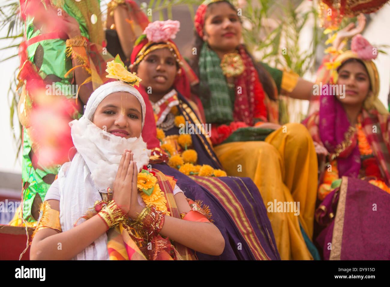 Persone, Delhi, Asia, paese, città, persone, tradizionale, Immagini Stock