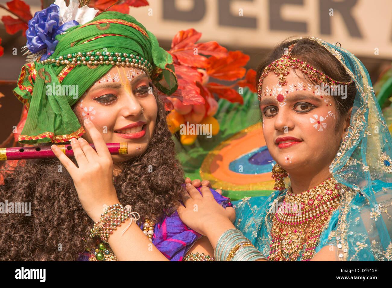Persone, Delhi, Asia, paese, città, donne, tradizionale, Immagini Stock