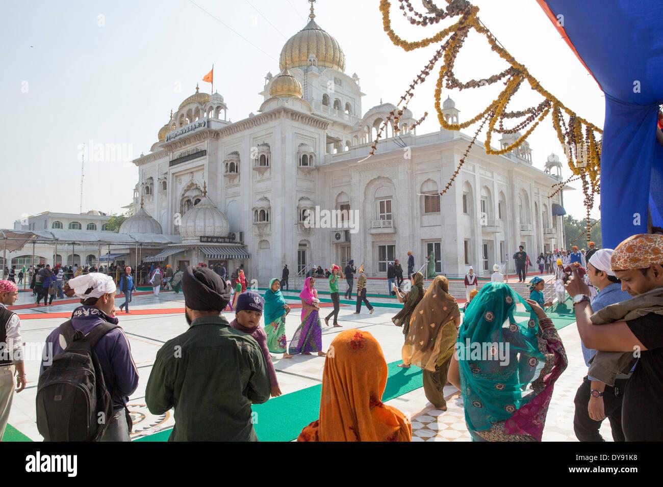 La religione sikh Gurdwara Bangla Sahib Sikh, casa di preghiera, Delhi, New Delhi, Asia, paese, città, chiesa, religione, Immagini Stock