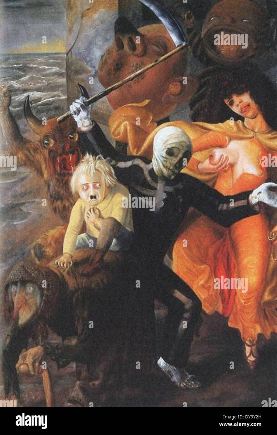 Otto Dix I sette peccati Cardinale Immagini Stock