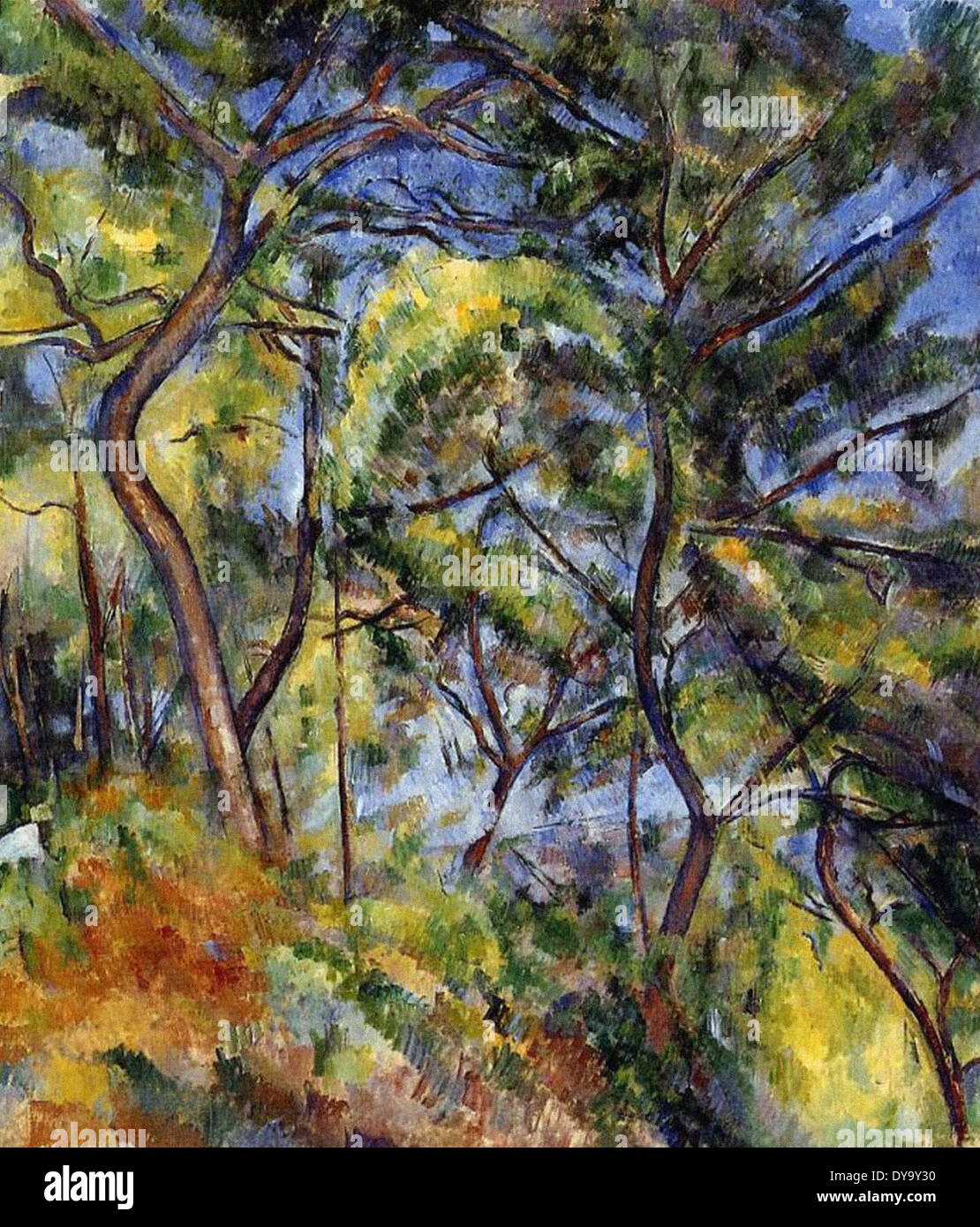 Paul Cezanne Forest Immagini Stock