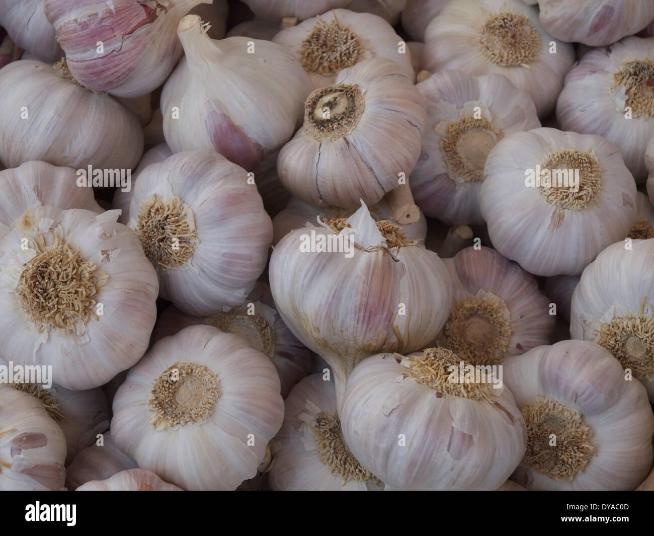 L'odore, il cibo, l'aglio, bianco, verdure Immagini Stock