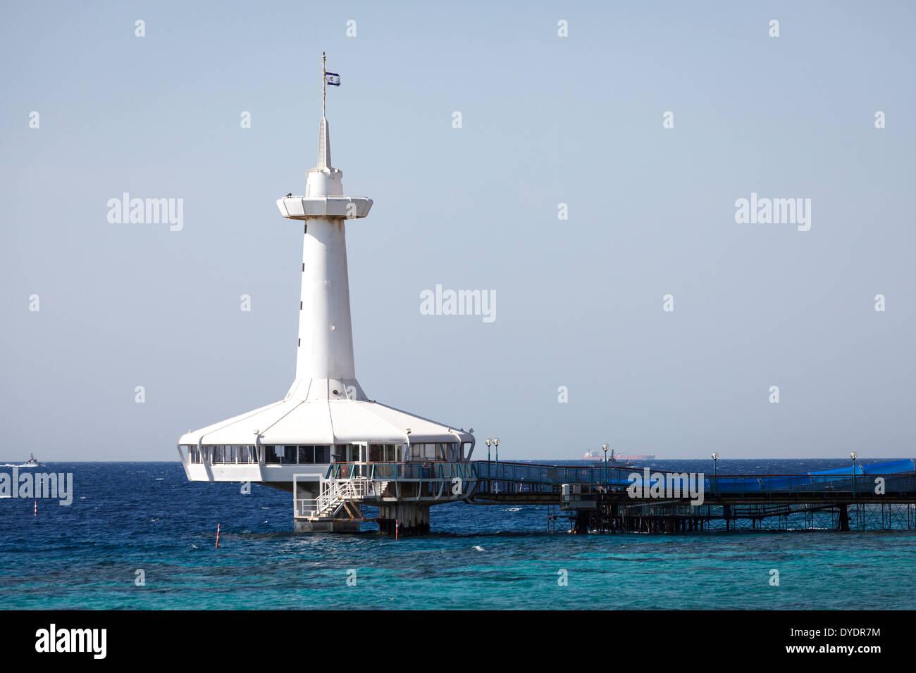 L'osservatorio sottomarino Marine Park, Eilat, Israele. Immagini Stock