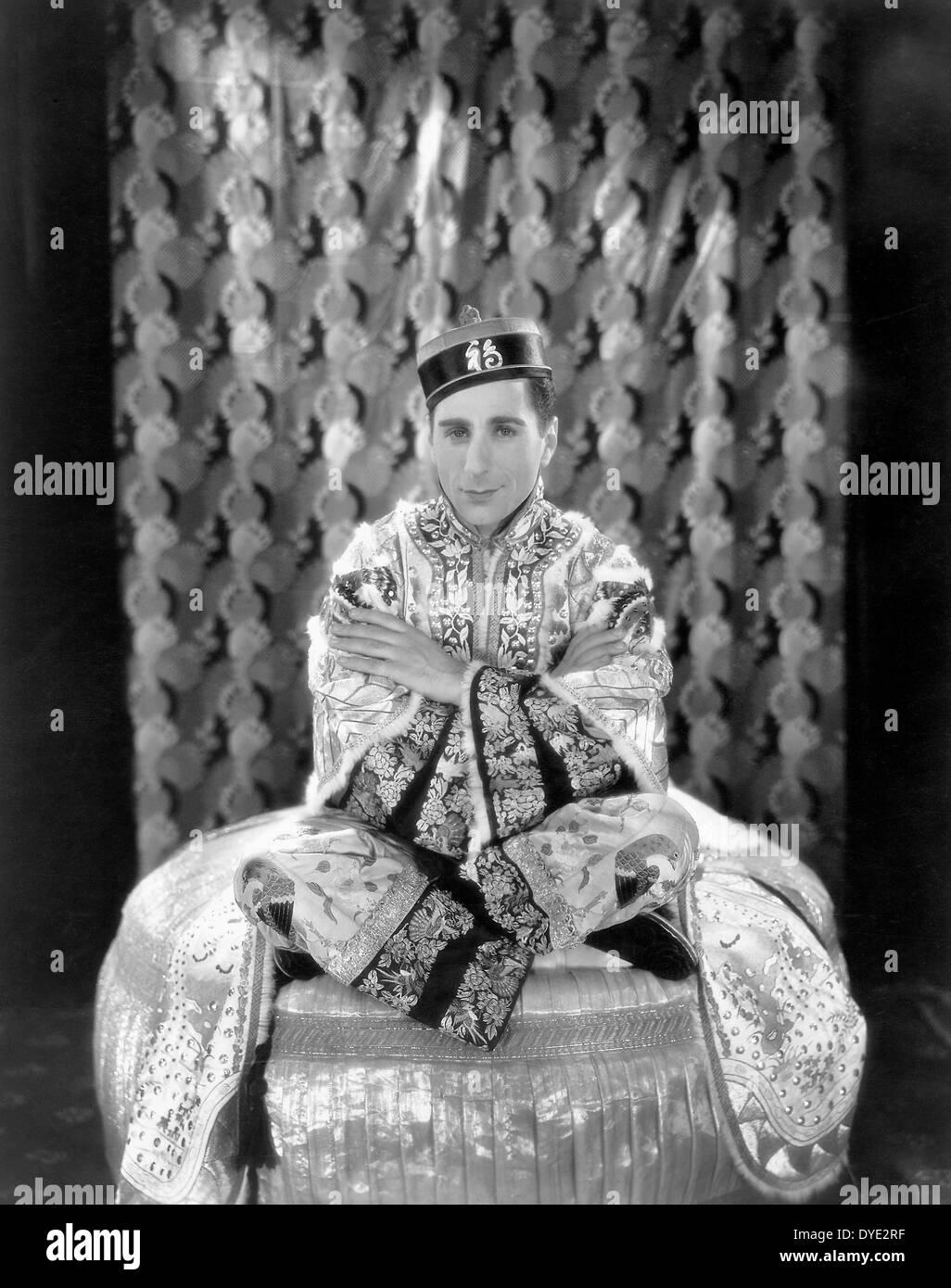"""Nick Lucas sul set del film """"Show di mostra', 1929 Immagini Stock"""