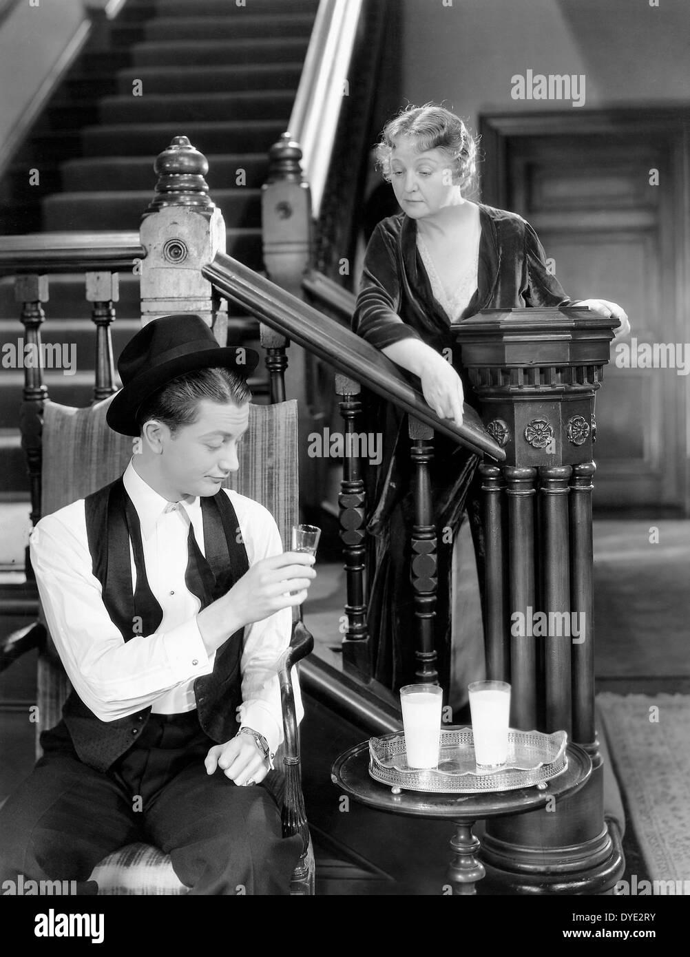 """Robert Young, Laura speranza equipaggi, sul set del film """"nuova morale per il Vecchio"""", 1932 Immagini Stock"""