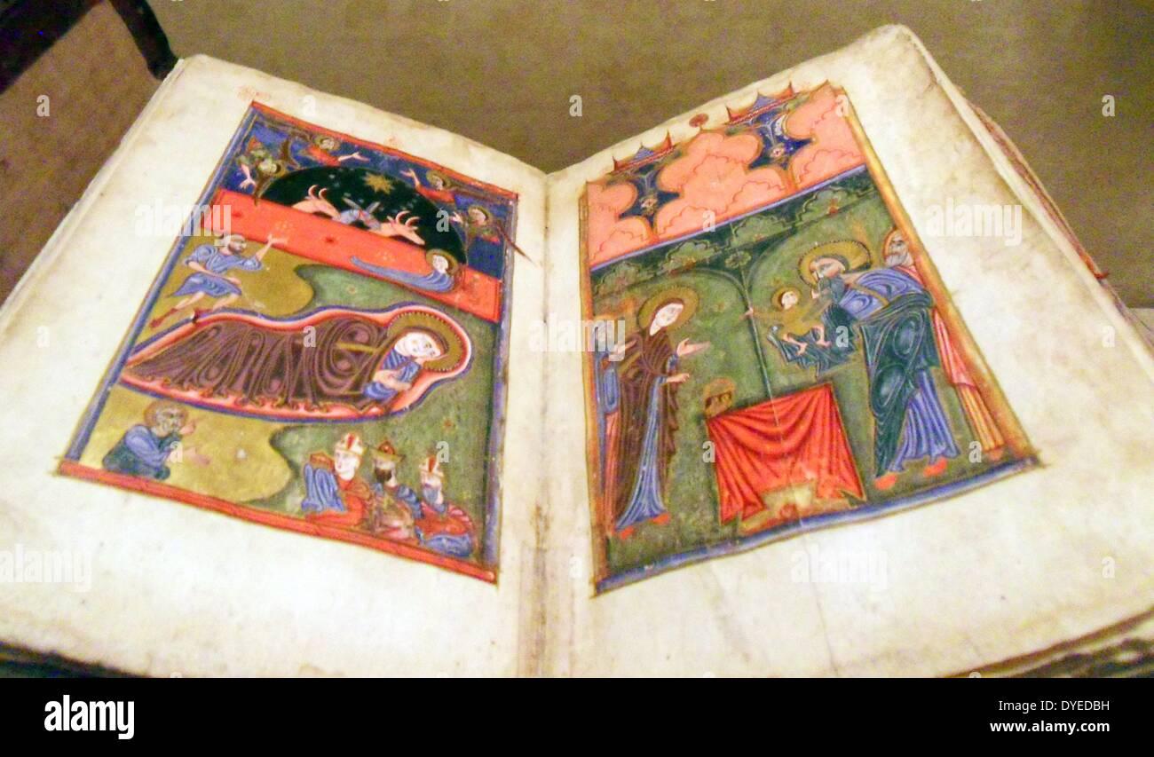 Quattro Vangeli in lingua armena 1434 Immagini Stock