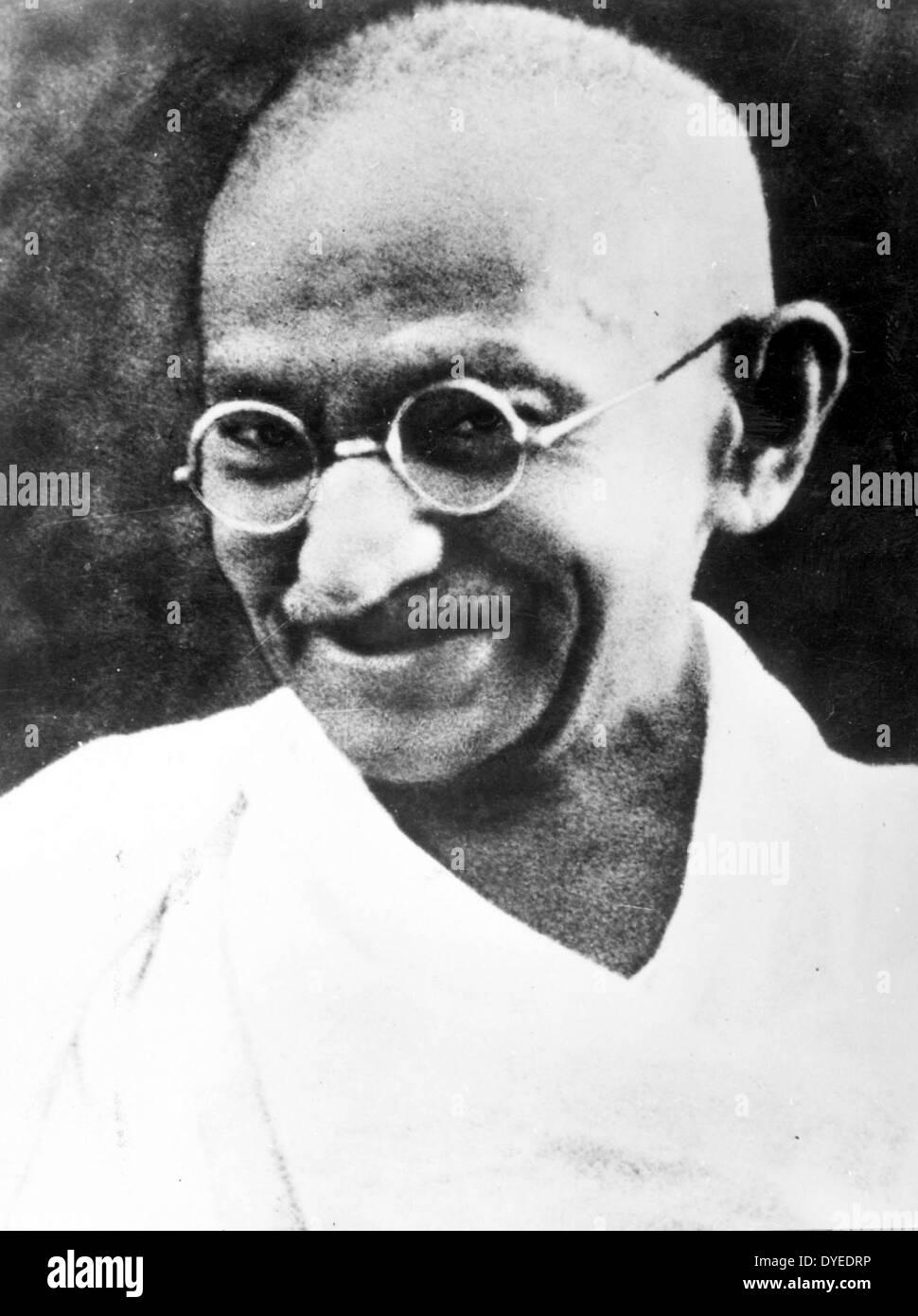 Fotografia del Mahatma Gandhi 1940 A.D. Immagini Stock