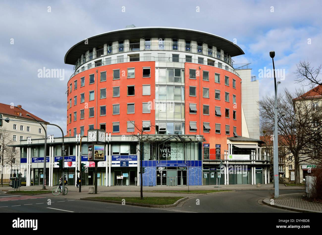 Dresden Südvorstadt, Welcome Center Technischen Universität Immagini Stock