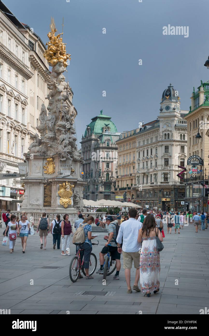 Österreich, Wien I, Graben, elegante Haupteinkaufsstrasse Immagini Stock