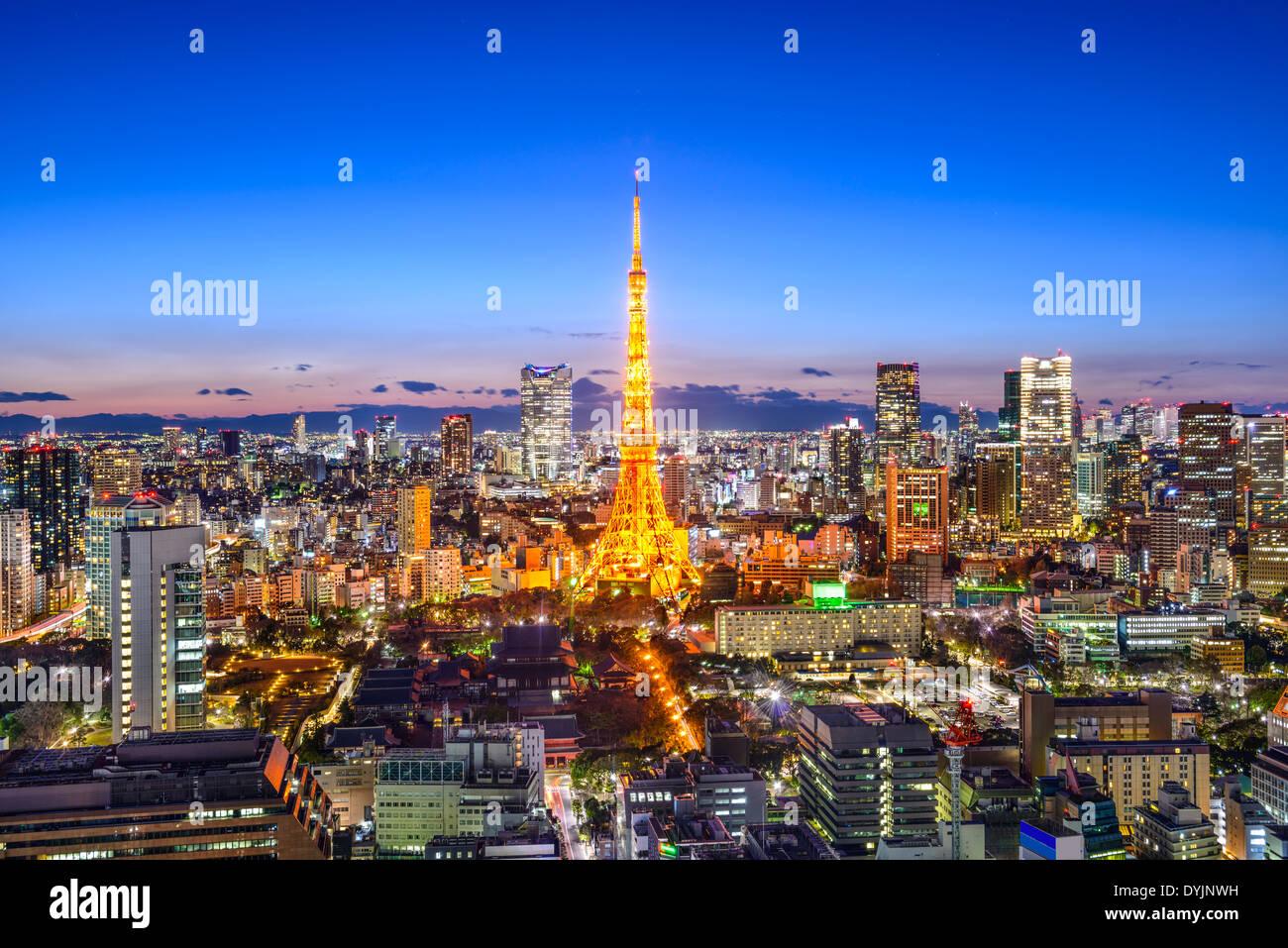 Tokyo, Giappone skyline della città Immagini Stock