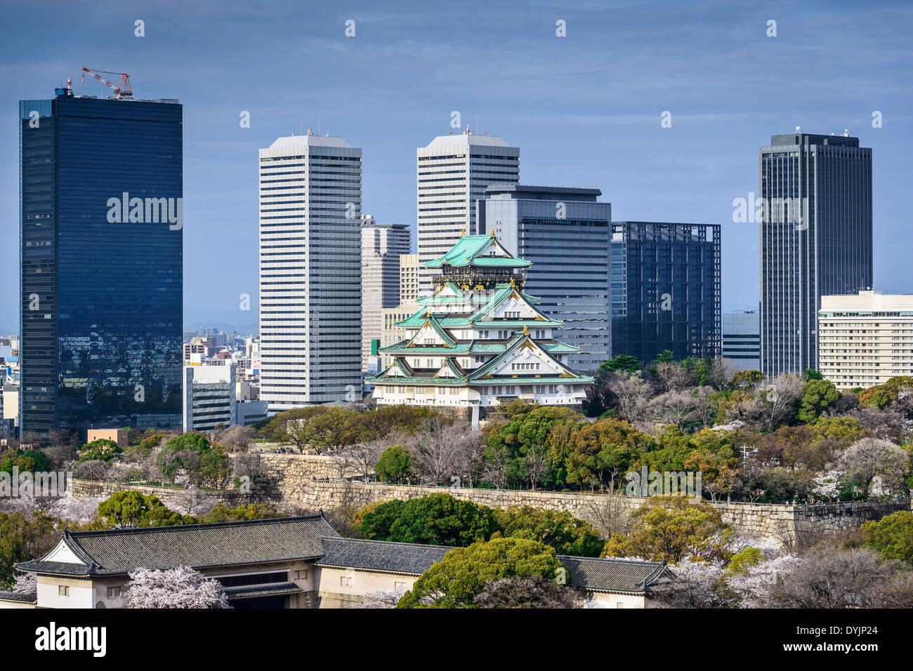 Osaka in Giappone presso il Castello di Osaka. Immagini Stock