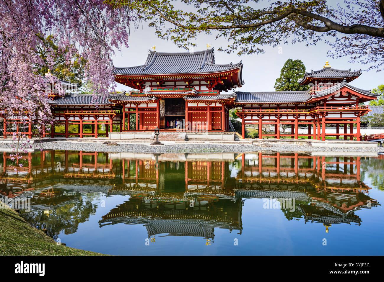Kyoto, Giappone a Byodo-in tempio. Immagini Stock