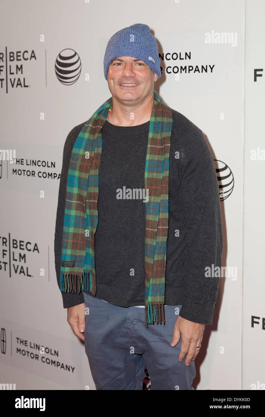NEW YORK, NY - Aprile 20, 2014: Dito Montiel assiste premiere Boulevard filmato durante il 2014 Tribeca Film Festival a BMCC Tribeca Immagini Stock