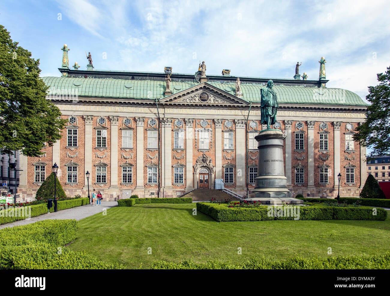 Cavalieri' casa o casa della Nobiltà, Riddarhuset, casa di incontri della nobiltà svedese, centro storico, Gamla Stan, Immagini Stock