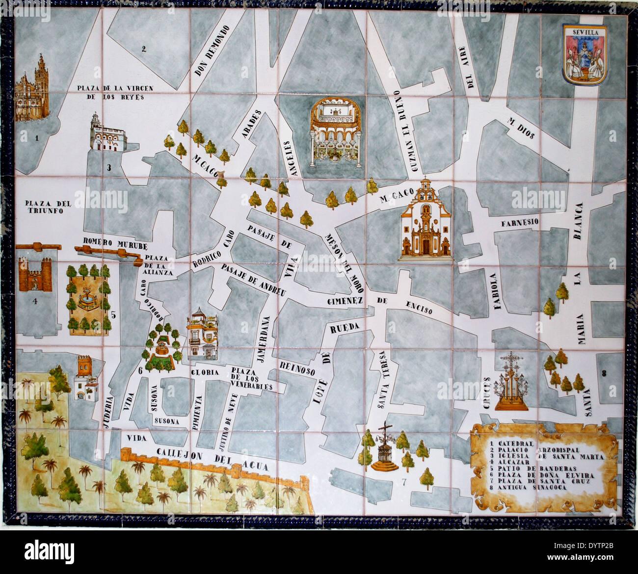 Cartina Siviglia Spagna.Seville Map Spain Immagini E Fotos Stock Alamy