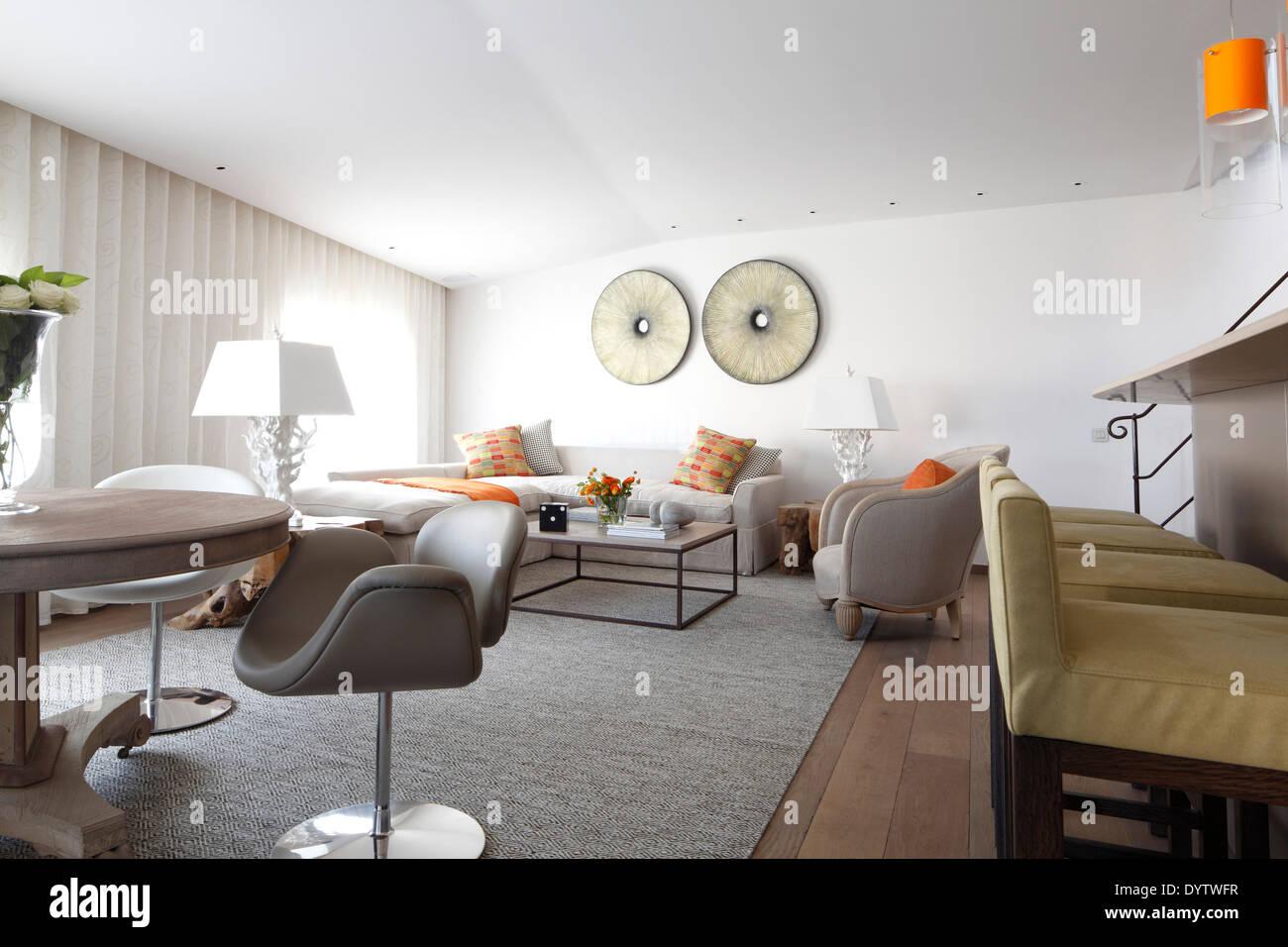 Aprire il piano spazio soggiorno con cucina bar remparts