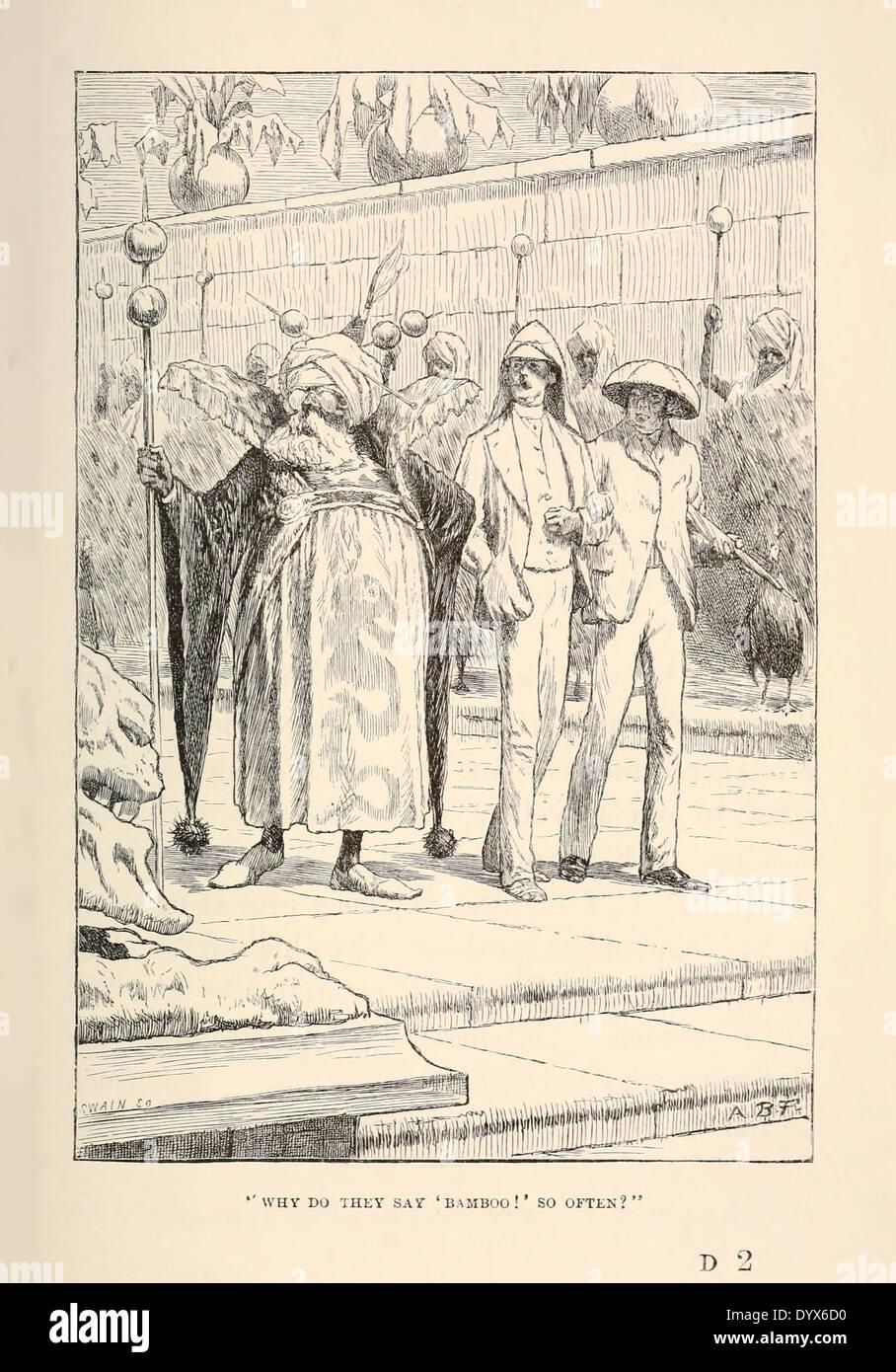 Arthur Burdett Frost (1851-1928) illustrazione da 'un intricato favola' da Lewis Carroll pubblicato 1885. Nodo 6 'il suo irraggiamento' Immagini Stock