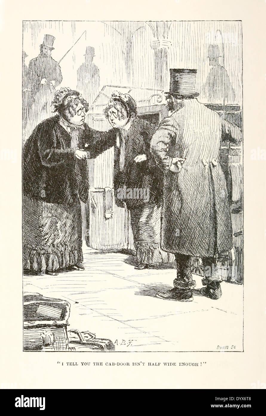 """Arthur Burdett Frost (1851-1928) illustrazione da 'un intricato favola' da Lewis Carroll pubblicato 1885. Nodo 7'piccola cassa"""". Immagini Stock"""