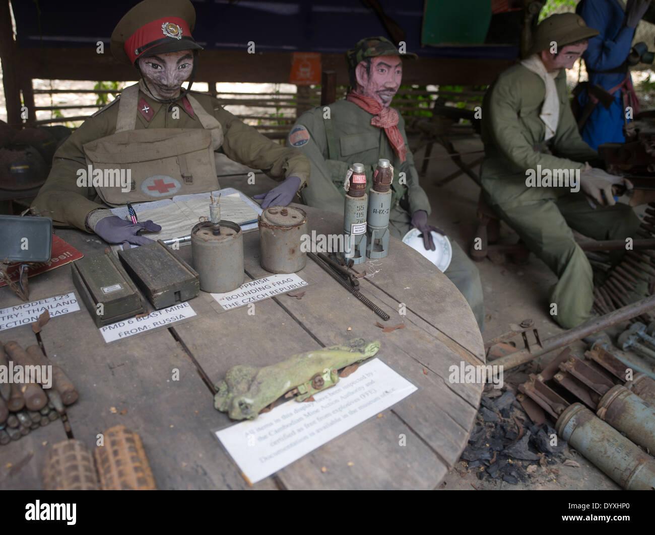 Cambogia Terra Mia ( ) delle mine Museum est. da Aki Ra. Siem Reap, Cambogia Immagini Stock