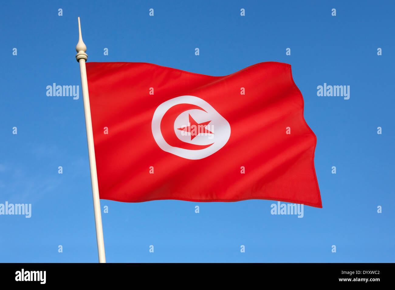 Bandiera della Tunisia Immagini Stock
