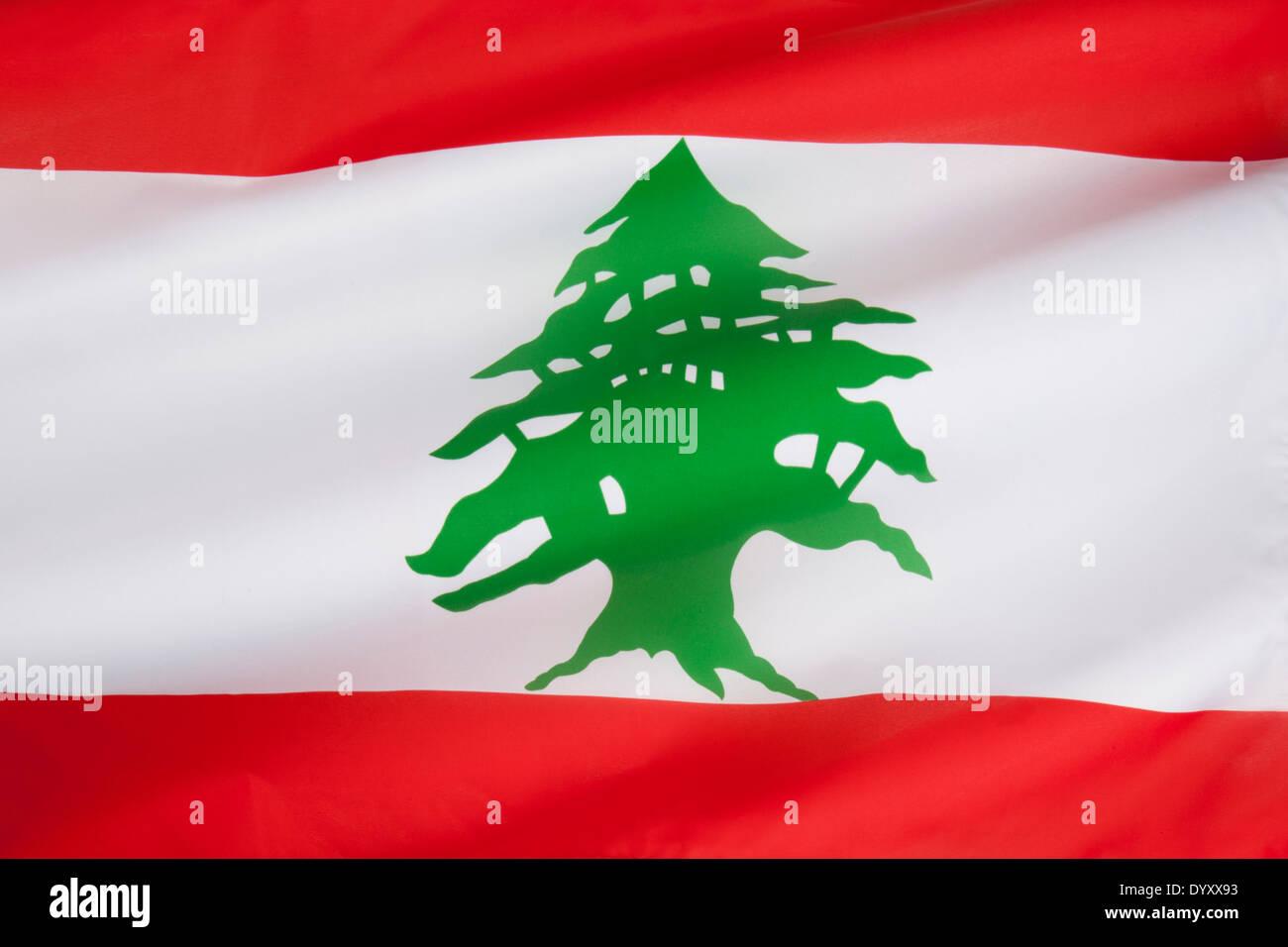 La bandiera del Libano Immagini Stock