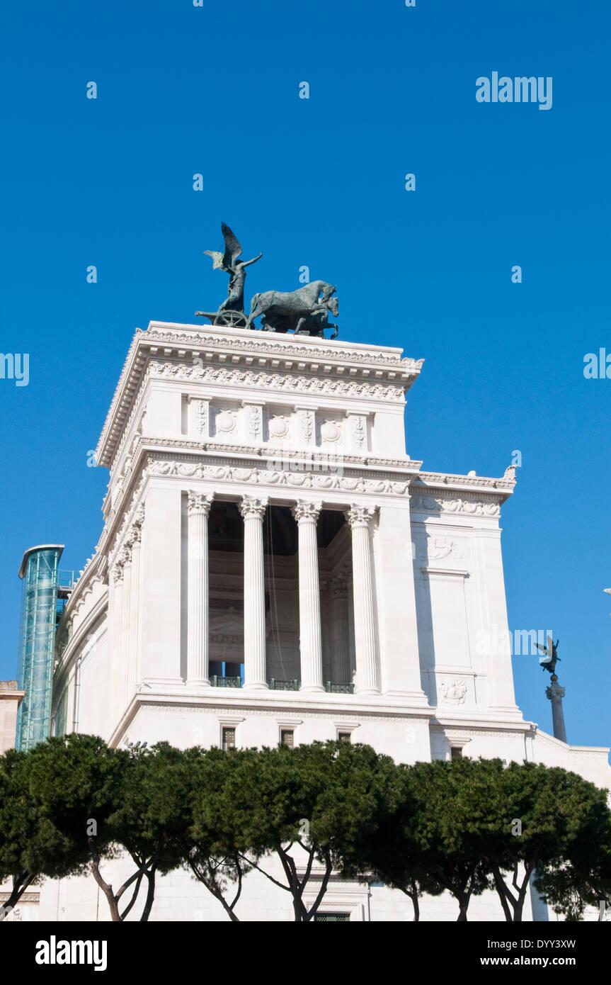 L'Altare della Patria, noto anche come il Monumento Nazionale a Vittorio Emanuele II in Roma. Foto Stock