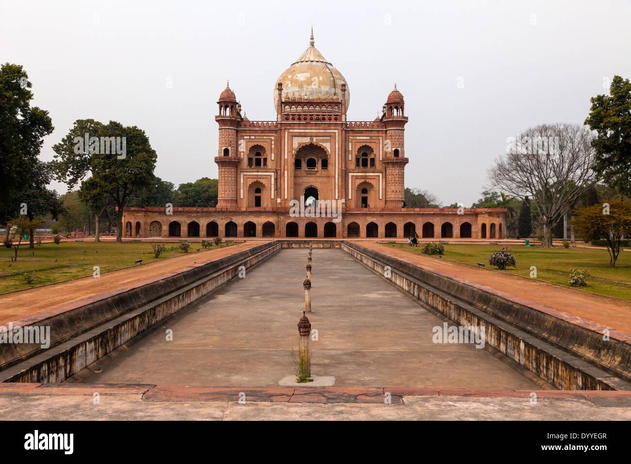New Delhi, India. Safdarjang della tomba costruita 1753-54. Immagini Stock