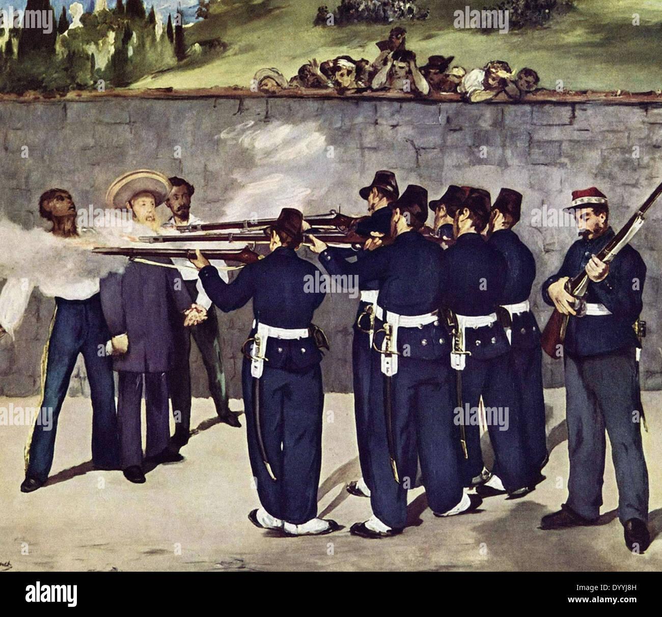 Edouard Manet l'esecuzione dell'Imperatore Massimiliano Immagini Stock