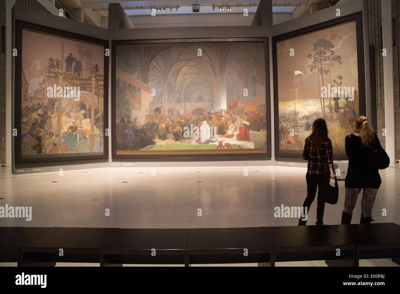 Epico slavo di Alfons Mucha Praga, Repubblica Ceca Immagini Stock