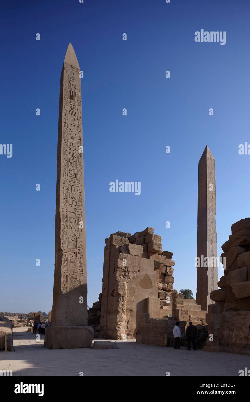 Tempio di Karnak. Più grande edificio religioso al mondo. Open Air Museum Immagini Stock