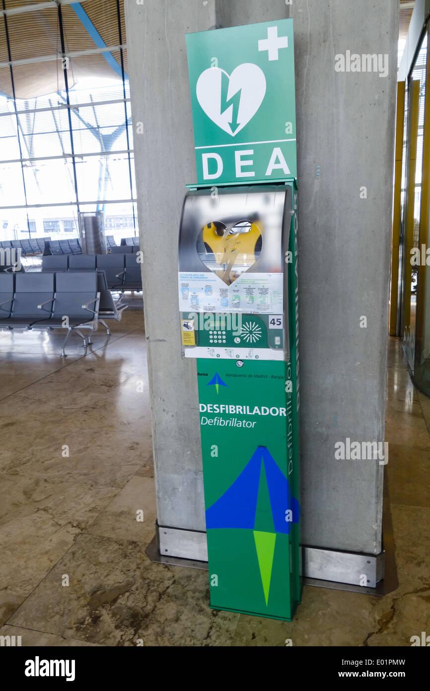 Aeropuerto de Madrid Barajas, DEA, Spagna, Madrid Immagini Stock