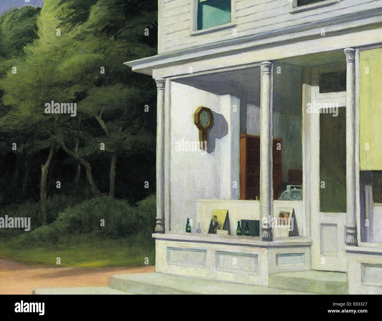 Edward Hopper sette del mattino Immagini Stock