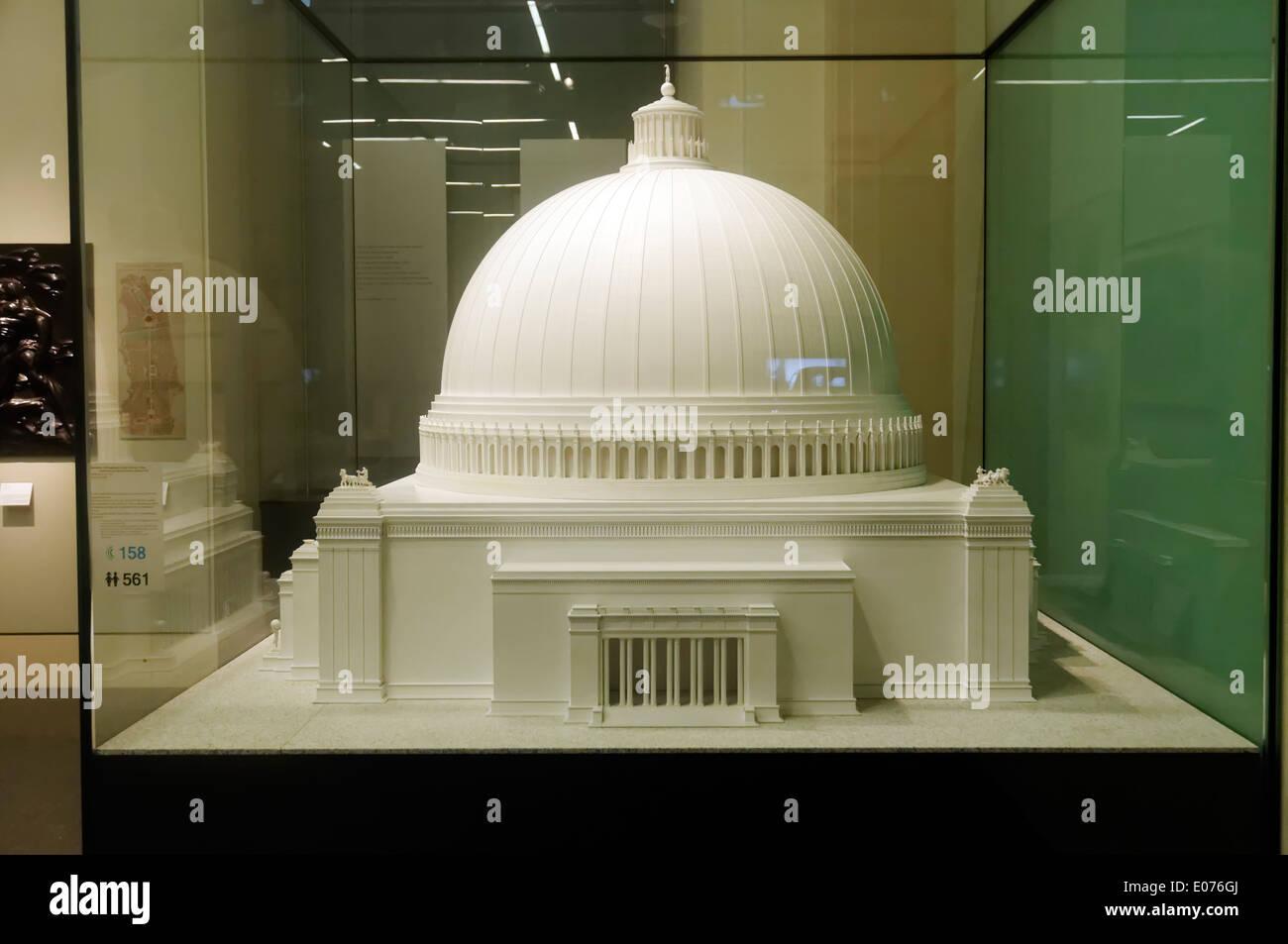 Una replica di Albert Speer il modello del gigantesco Volkshalle, parte della proposta di riqualificazione di Berlino a essere chiamato Germania Immagini Stock