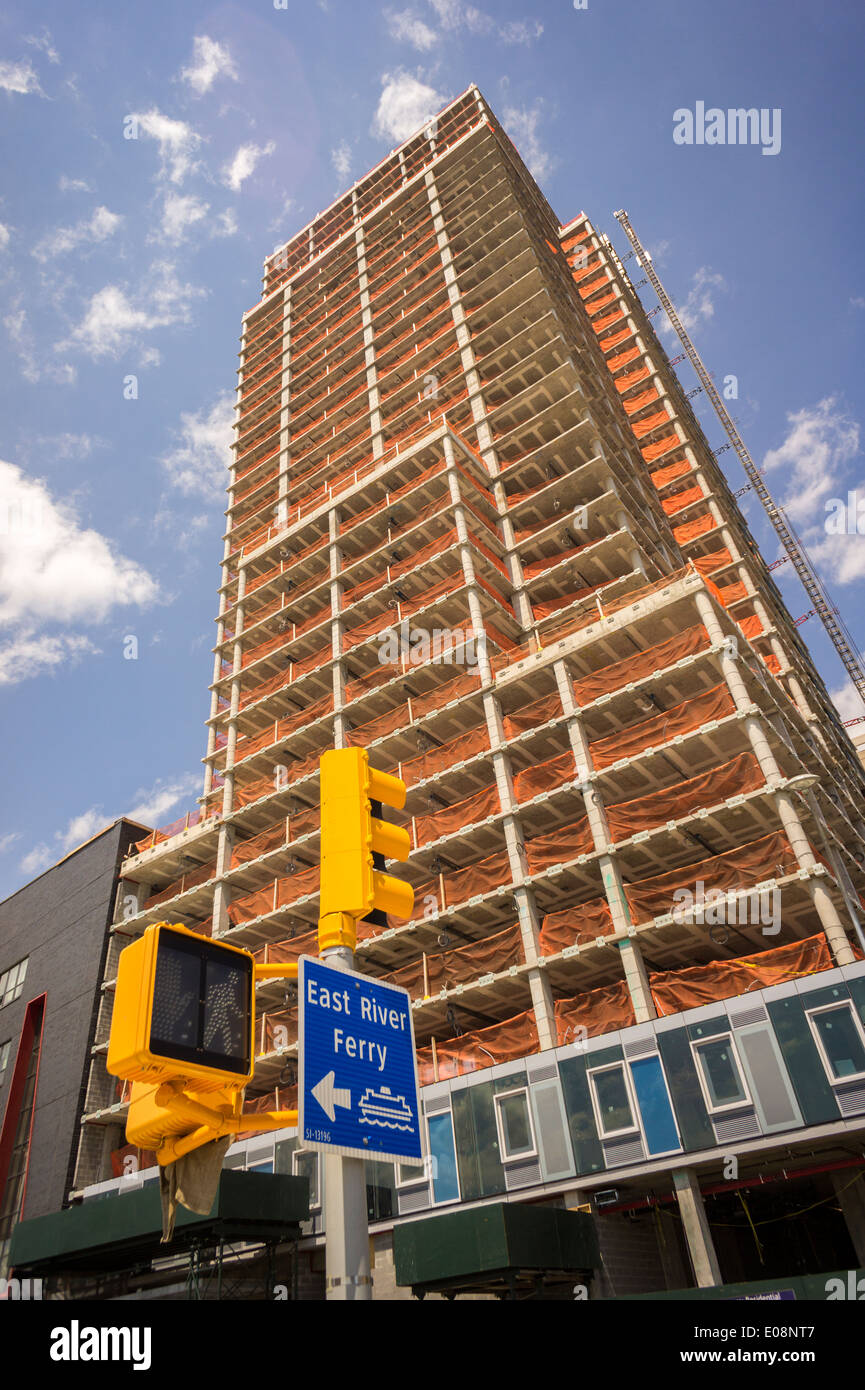 Sviluppo dell'Hunter punto a sud progetto nella città di Long Island a New York Immagini Stock