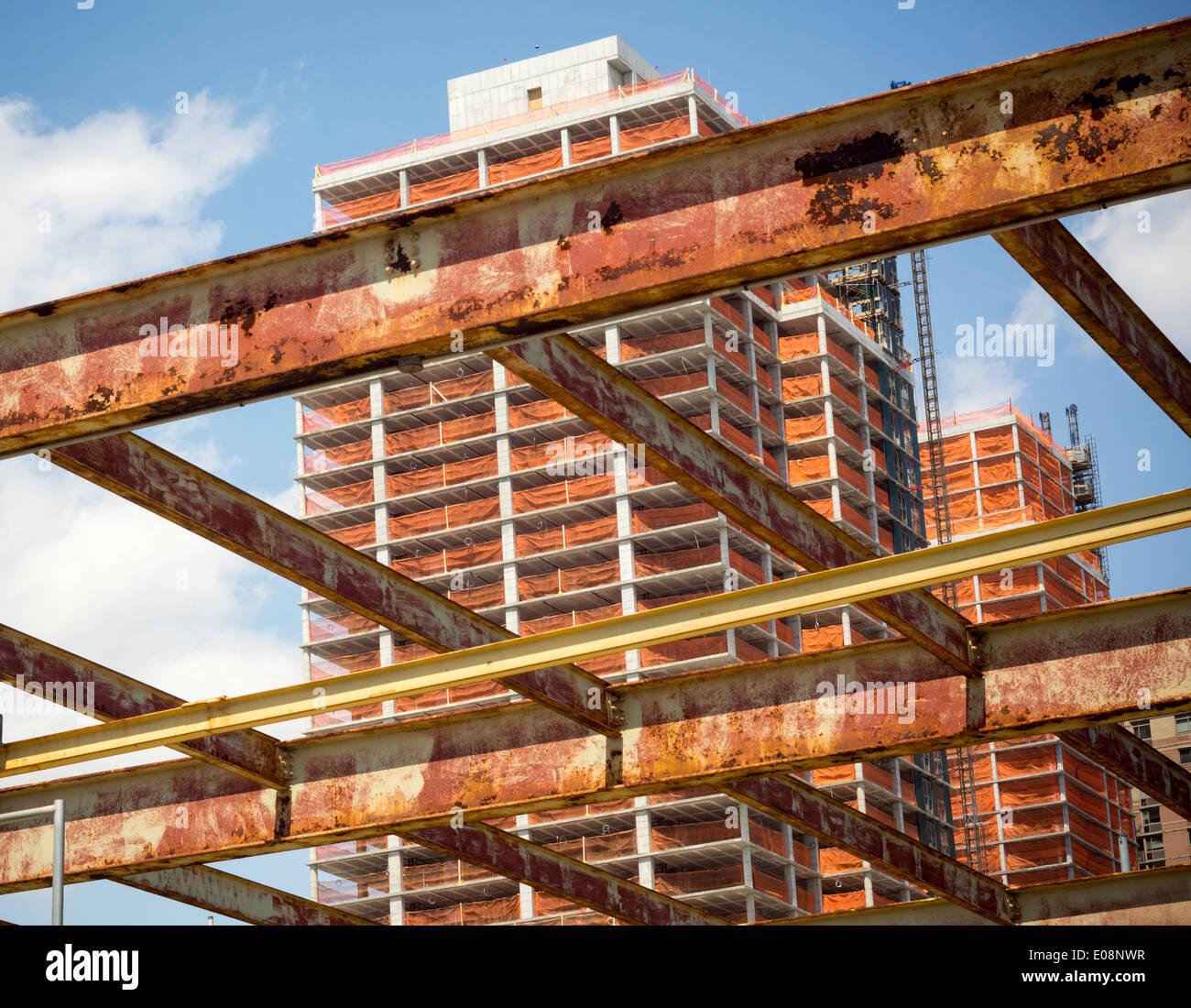 Sviluppo dell'Hunter punto a sud progetto in Long Island City nel Queens a New York Immagini Stock