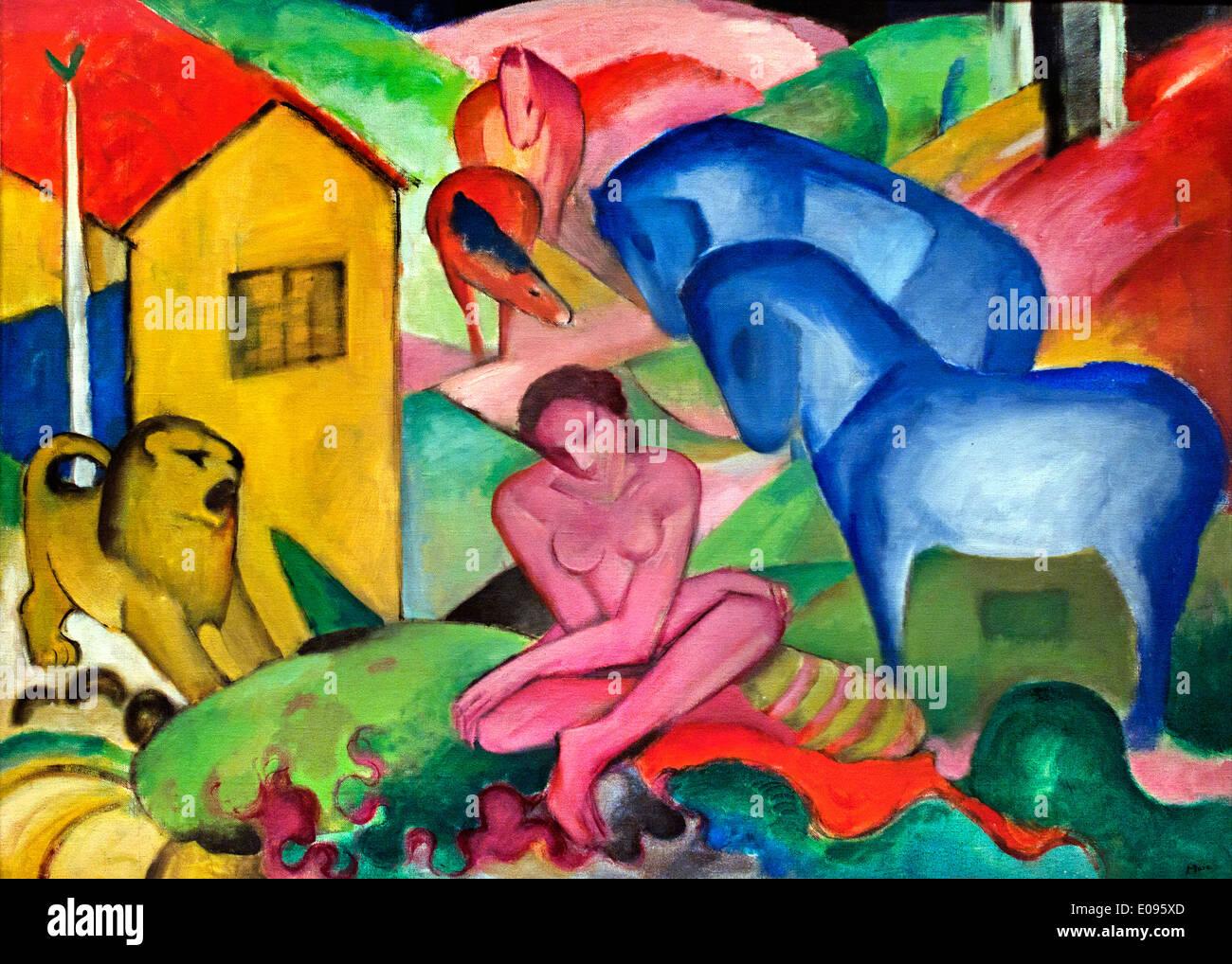 Il sogno 1912 Franz Marc 1880-1916 Francia - Francese Immagini Stock