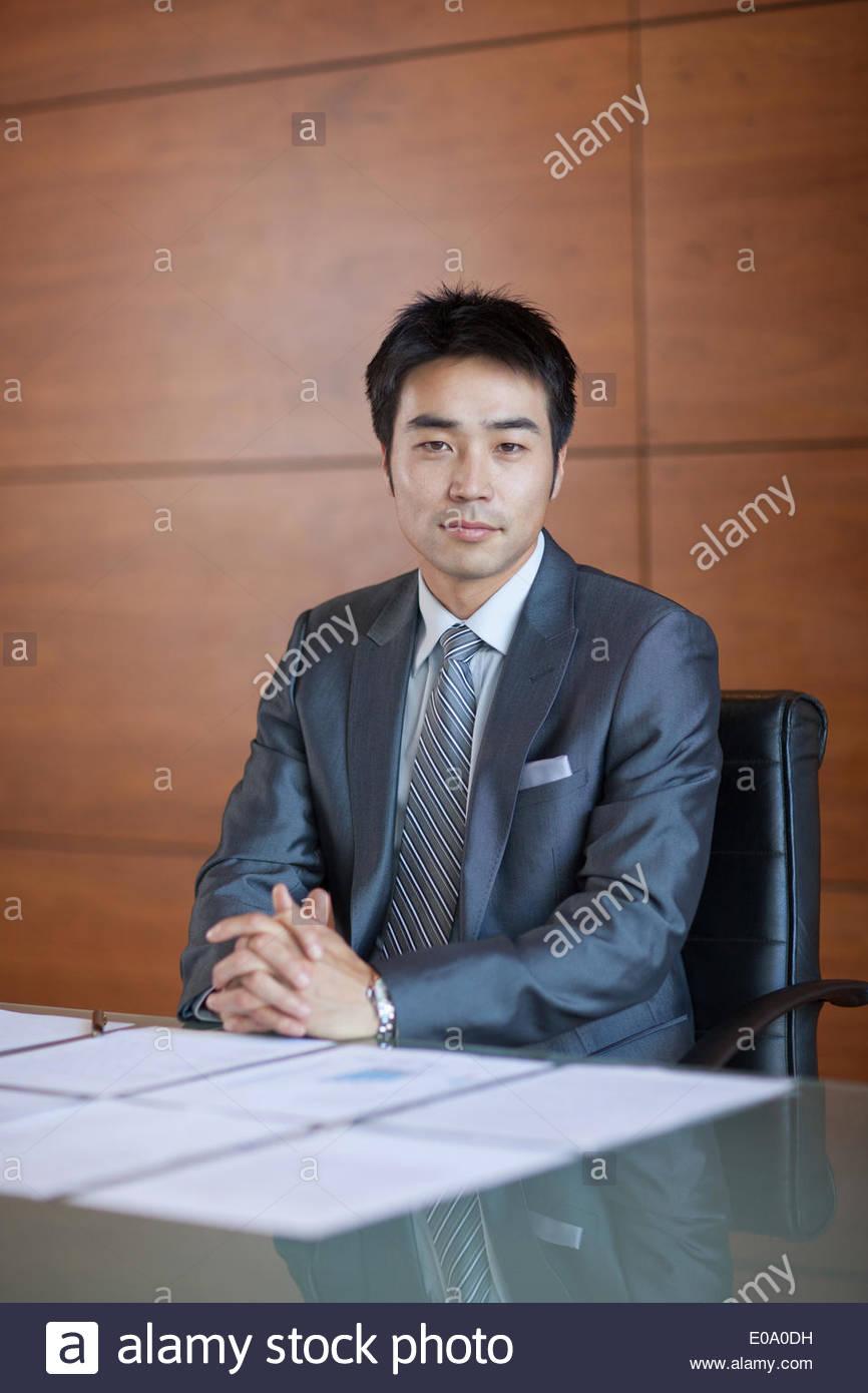 Ritratto di imprenditore fiducioso Immagini Stock