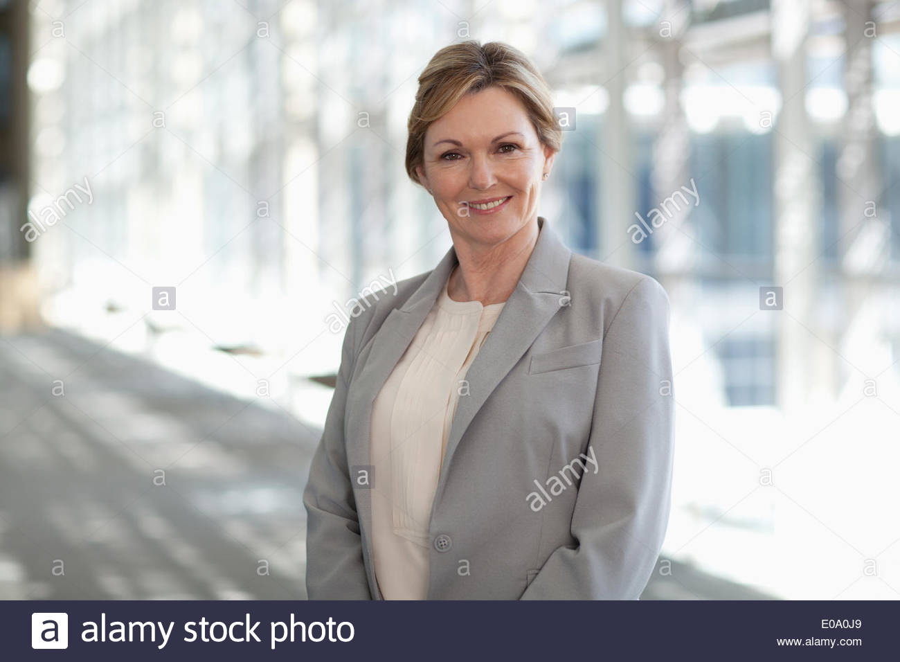 Imprenditrice sorridente Immagini Stock