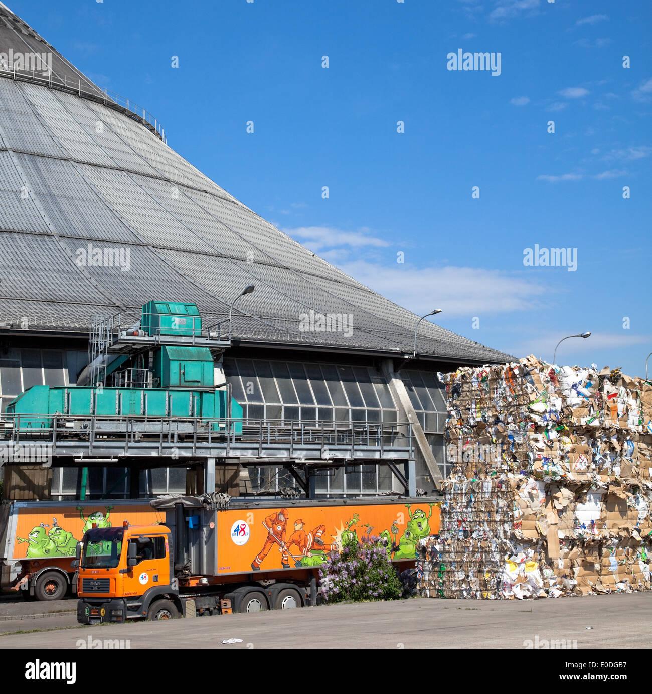 Rinterzelt, Müllaufbereitungs/Verbrennungsanlage, Wien Österreich - Rinterzelt, la gestione dei rifiuti facility, Vienna, Austria Immagini Stock