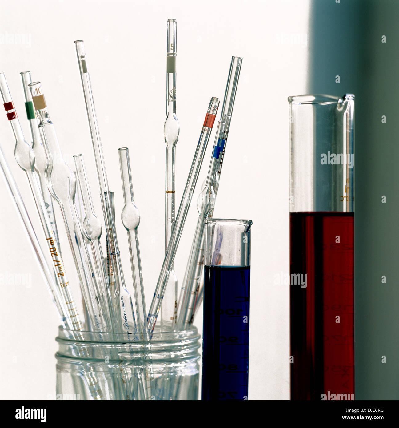La scienza - Laboratorio di attrezzature di prova Immagini Stock