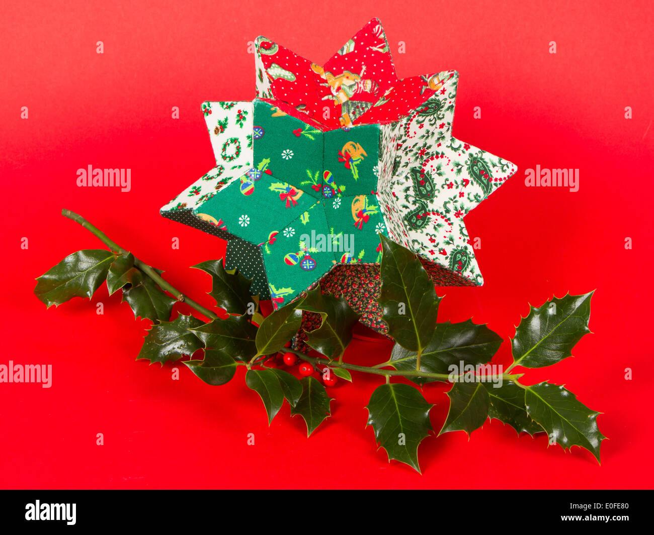 Pungitopo Decorazioni Natalizie.Il Pungitopo E Decorazione Di Natale Isolato Su Bianco Foto